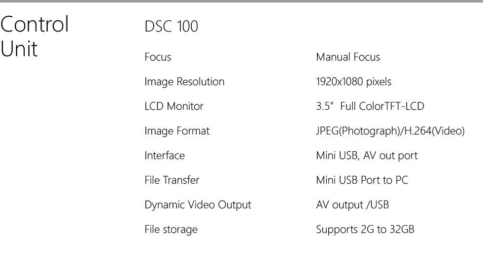 Horus Digital Fundus Camera DEC 100 spec